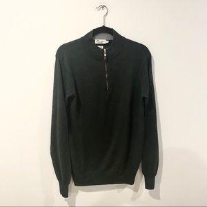 Peter Millar Hunter Green 3/4 Zip Sweater
